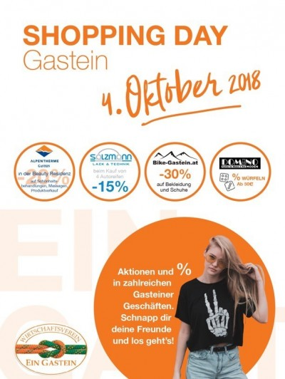SHOPPING DAY Gastein am 04. Oktober 2018!