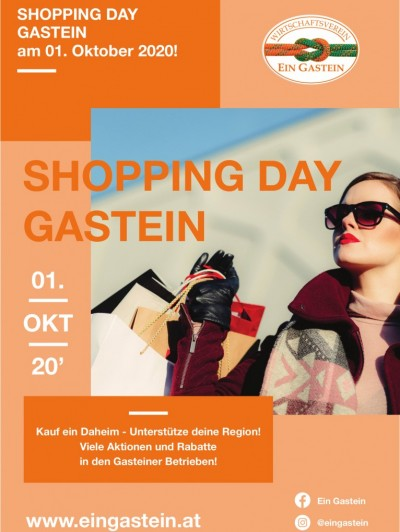 Shopping Day Gastein - 1. Oktober 2020