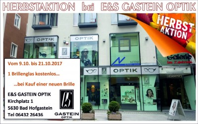 Herbstaktion bei E&S Gastein Optik